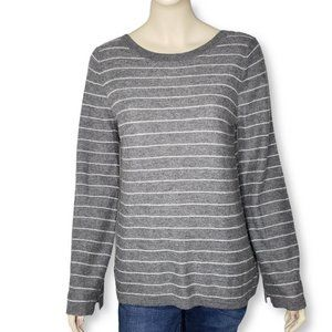 Vince Cashmere Striped Bell Sleeve Sweater Medium